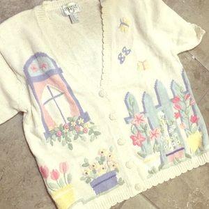 Vintage cottage knit short sleeve CERVELLE